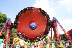 Paseo de la diversión Paseo del carnaval Diversión de los niños reconstrucción paseo de la fiesta Paseo justo Imagen de archivo libre de regalías