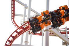 Paseo de la diversión del roller coaster Imágenes de archivo libres de regalías