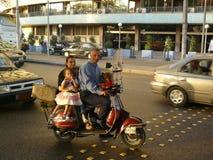 Paseo de la familia de El Cairo Fotografía de archivo