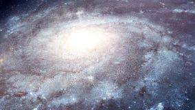 paseo de la galaxia del espacio 4K stock de ilustración