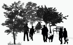 Paseo de la gente en el parque Fotografía de archivo
