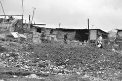 Paseo de la gente en fango Imagen de archivo