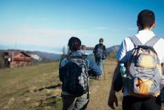 Paseo de la montaña fotos de archivo libres de regalías