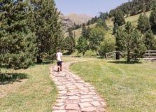Paseo de la montaña imagen de archivo