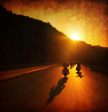 Paseo de la motocicleta Fotografía de archivo