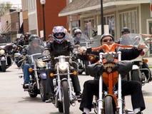 Paseo de la motocicleta para la caridad Imágenes de archivo libres de regalías