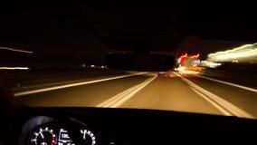 Paseo de la noche de la autopista almacen de video