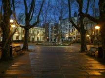 Paseo de la noche de Montevideo fotografía de archivo