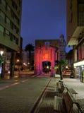 Paseo de la noche de Montevideo foto de archivo
