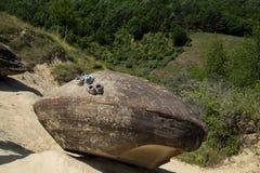 Paseo de la piedra del platillo volante Fotografía de archivo libre de regalías
