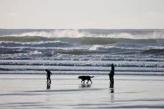 Paseo de la playa Fotos de archivo
