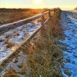 Paseo de la playa del invierno Imagen de archivo