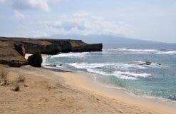 Paseo de la playa a la península Foto de archivo