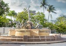 Paseo de la Princesa fountain in old San Juan Stock Image