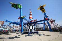 Paseo de la raza del aire en Coney Island Luna Park Foto de archivo libre de regalías