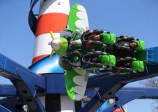 Paseo de la raza del aire en Coney Island Luna Park Fotos de archivo libres de regalías