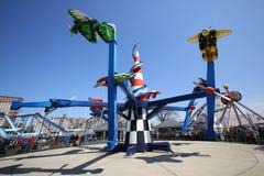 Paseo de la raza del aire en Coney Island Luna Park Imágenes de archivo libres de regalías