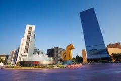 Paseo de la Reforma广场在街市墨西哥城 免版税库存照片