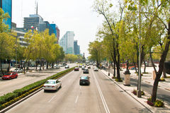 Paseo de la Reforma, Mexico City Royalty Free Stock Photo