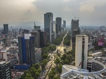 Paseo de La Reforma Square - Mexico City, Mexico royalty free stock photos