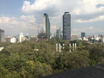 Paseo de la reforma. View to Castle of chapultepec Stock Image