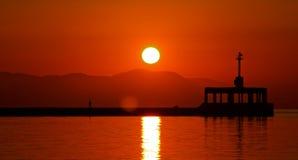 Paseo de la salida del sol Foto de archivo libre de regalías