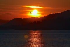 Paseo de la salida del sol Fotos de archivo libres de regalías