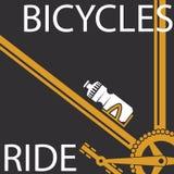 Paseo de las bicicletas Fotografía de archivo libre de regalías