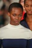Paseo de los modelos el final de la pista que lleva a Ralph Lauren Spring 2016 durante semana de la moda de Nueva York Fotografía de archivo libre de regalías