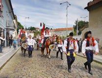 Paseo de los reyes, ceremonial cultural, la UNESCO Fotografía de archivo libre de regalías