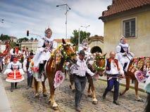 Paseo de los reyes, ceremonial cultural, la UNESCO Imagen de archivo libre de regalías