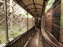 Paseo de madera de la manera de la entrada Imagenes de archivo