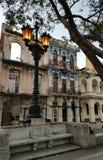 Paseo de Marti, Havanna. Romance of decay Royalty Free Stock Photo
