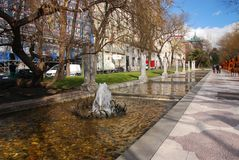 Paseo de Recoletos, Madrid, Espagne. Image stock