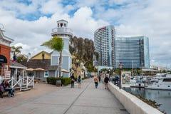 Paseo de San Diego Oceanfront - CALIFORNIA, los E.E.U.U. - 18 DE MARZO DE 2019 imágenes de archivo libres de regalías