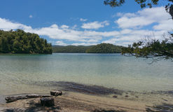 Paseo de Waikareiti del lago Te Urewera National Park Fotografía de archivo