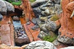 Paseo del agua del parque de atracciones Fotografía de archivo