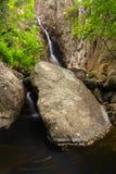 Paseo del agua en Gualba Gorg Negre. Montseny, España. Fotos de archivo libres de regalías