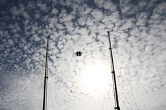 Paseo del amortiguador auxiliar en el cielo Fotos de archivo