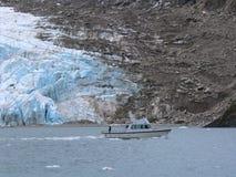 Paseo del barco del glaciar Foto de archivo
