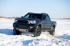 Paseo del camión del invierno Fotografía de archivo