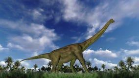 Paseo del ciclo del Brachiosaurus, lazo inconsútil, cantidad común libre illustration