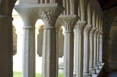 Paseo del claustro en Iona Abbey Imagen de archivo libre de regalías