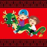 Paseo del dragón del Año Nuevo Foto de archivo libre de regalías