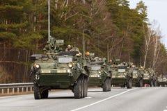 Paseo del Dragoon del ejército de los E.E.U.U. Imagen de archivo libre de regalías
