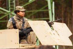Paseo del Dragoon del ejército de los E.E.U.U. Fotos de archivo