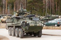 Paseo del Dragoon del ejército de los E.E.U.U. Imagenes de archivo