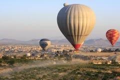 Paseo del globo del aire caliente, Cappadocia Imágenes de archivo libres de regalías