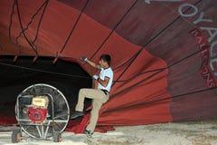 Paseo del globo del aire caliente, Cappadocia Imagen de archivo