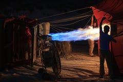 Paseo del globo del aire caliente, Cappadocia Imagenes de archivo
